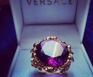 Versace, ring, and purple image