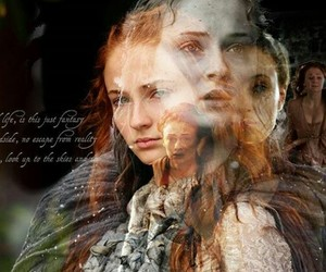 ginger, little bird, and sansa stark image