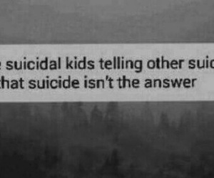 suicide, kids, and sad image