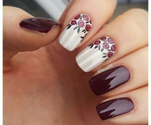 creative, mauve, and nail art image
