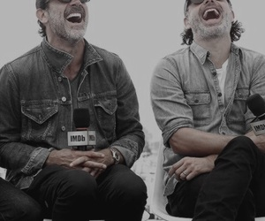jeffrey dean morgan, andrew lincoln, and the walking dead image