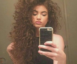 hairstyle, iphone, and selfie image