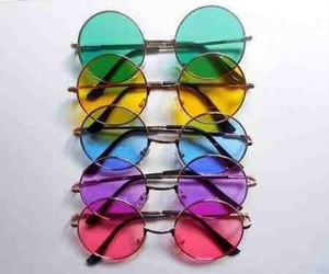 sunglasses, glasses, and colorful image