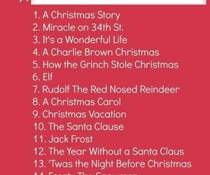 christmas, holidays, and list image