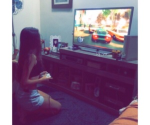 girl, game, and video games image