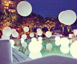 decor, party, and pool image