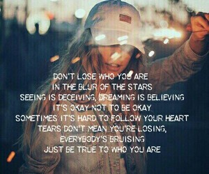 girl, lights, and Lyrics image