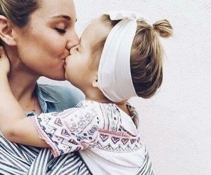 baby, kiss, and mother image