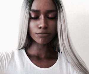 beauty, girl, and dark image