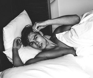 beau, sexy, and bed image