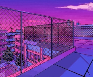 purple, pink, and pixel image