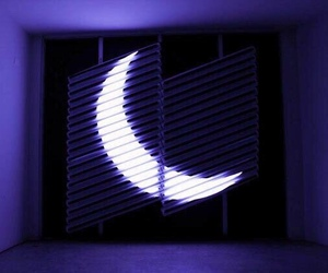 moon, aesthetic, and blue image