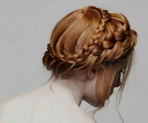 hair, braid, and redhead image