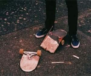 skate, boy, and broken image