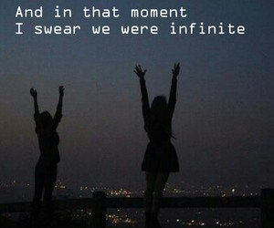 infinite, the perks of being a wallflower, and book quotes image