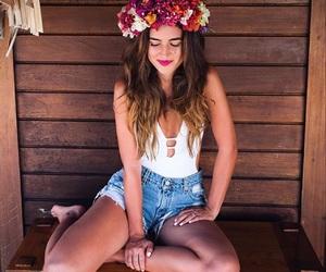flower crown, flowers, and hawaii image