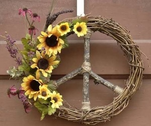 flowers, peace, and hippie image