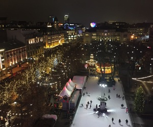 lights, oslo, and xmas image
