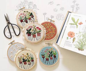 embroidery, needlework, and lovely image