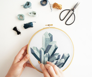 embroidery, hand-made, and handicraft image