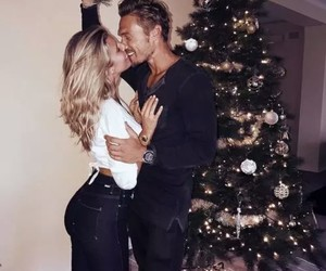 couple, xmas, and love image