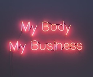 neon, body, and girl image