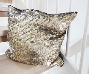 pillow, gold, and house image