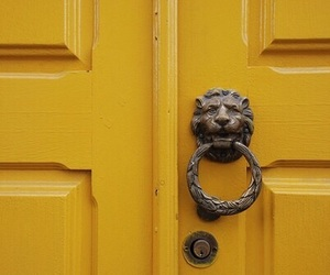 yellow, door, and aesthetic image