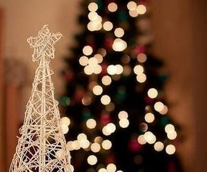 beautiful, christmas tree, and glare image
