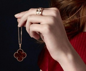 necklace, ring, and van cliff image