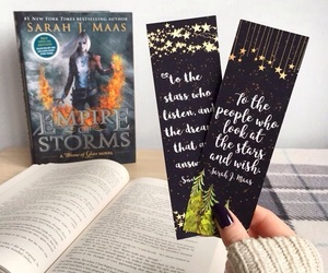 bookmark, books, and throne of glass image