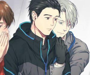 yuri on ice, viktor nikiforov, and yuri katsuki image