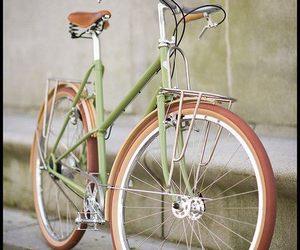 bicycle, bike, and green image