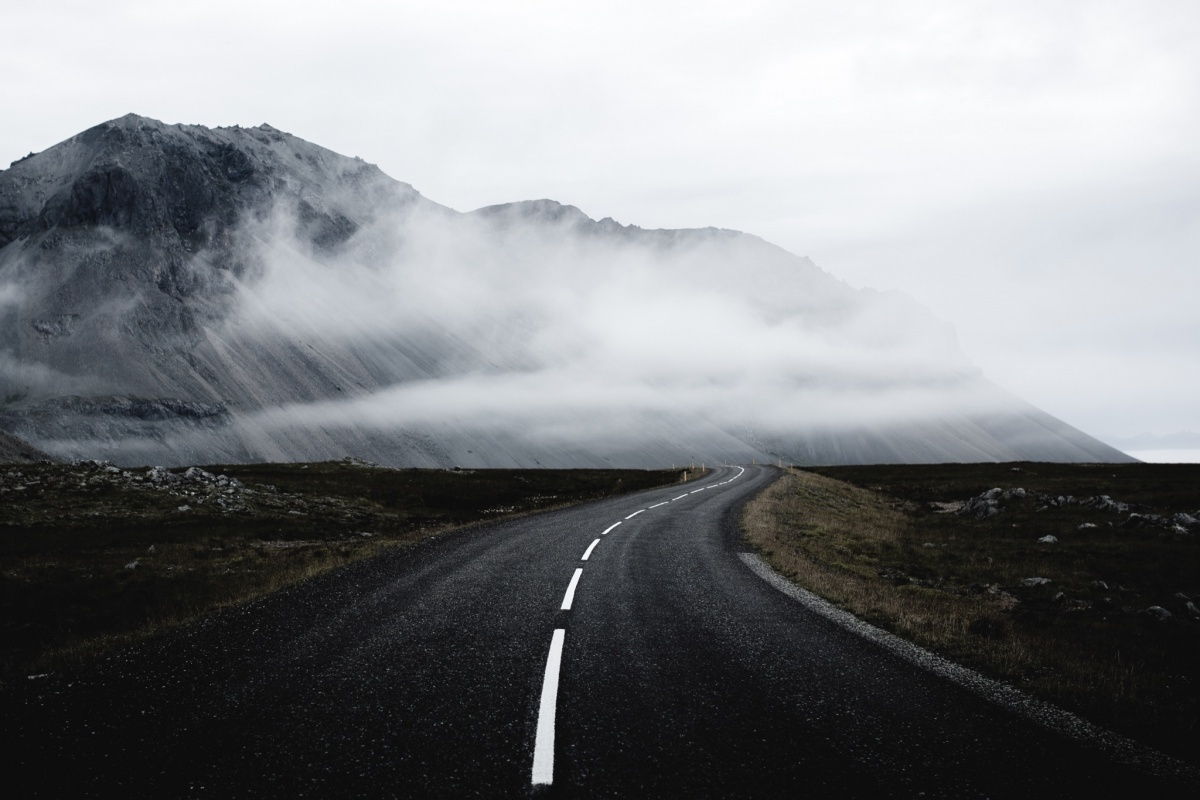 road, nature, and mountain image