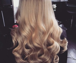 blonde, hair style, and curls image