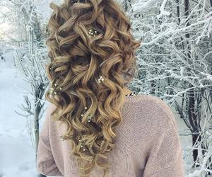 hair, style, and curly image