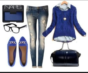 blue, casual, and clothing image