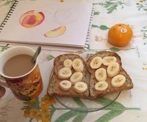 aesthetic, banana, and breakfast image