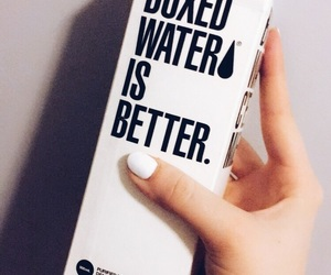boxed water and water image