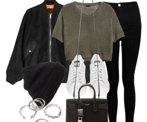 bomber, blackjeans, and purse image