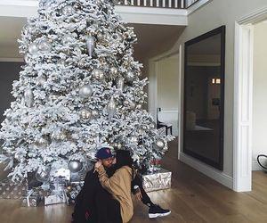 kylie jenner, tyga, and christmas image