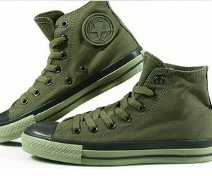 converse, green, and all star image