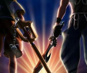 kingdom hearts, sora, and riku image