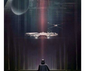 star wars, darth vader, and death star image