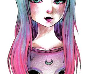 art, drawing, and pastel goth image