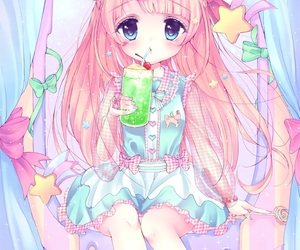 illustration, kawaii, and manga image