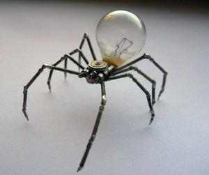 spider, steampunk, and sculpture image