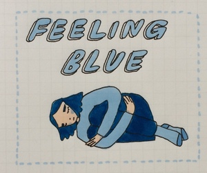 blue, sad, and feelings image