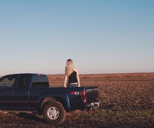 blonde, chevy, and girl image