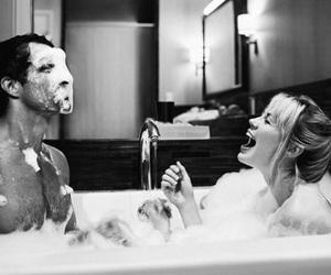 bath time, couple goals, and bath tub image